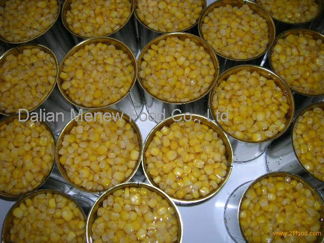 Canned Sweet Corn in Vacuum pack 340g, dw285g