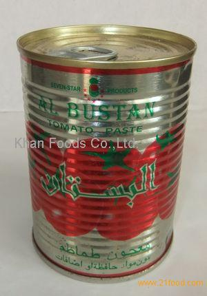 400g tomato paste in can