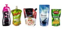 Plastic beverage Spout Pouch, Stand up Juice Bag With Spout / cap for drink packaging