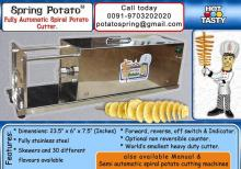 Twisted potato chips machine