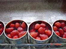 canned strawberry in light syrup 410g