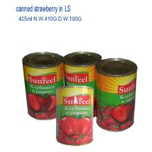 canned strawberry in light syrup 425ml*24tins/ctn