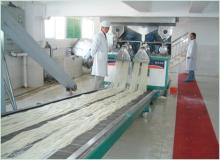 instant crossbridge rice noodle production line