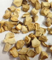 Dehydrated shiitake dice