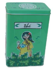 Tea Rectangle Tin Box