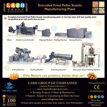 Extruded fried snacks pallet production line
