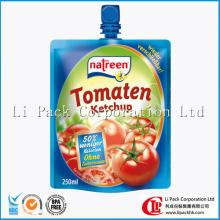 Spouted Retort Pouch For Tomato Sauce Packaging