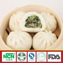 feature snack food steamed stuffed mushroom and vegetables bun