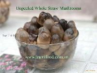Canned Straw Mushrooms whole Peeled