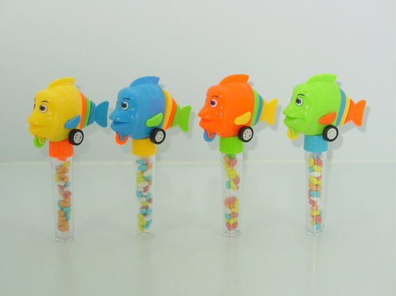 Pull back little fish toy candy 111459 products china for Little fish toys