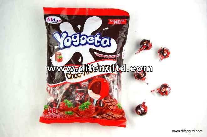 Difeng Yogurt Mixed Chcolate Lollipop Products China