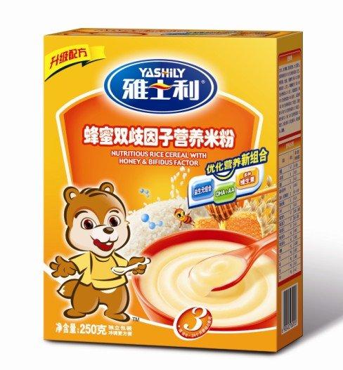 Nutritious Rice Cereal With Honey & Bifidus Factor