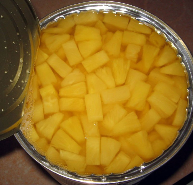 Canned Iqf Pineapple Tidbits In Natural Juice 3kg In Stock