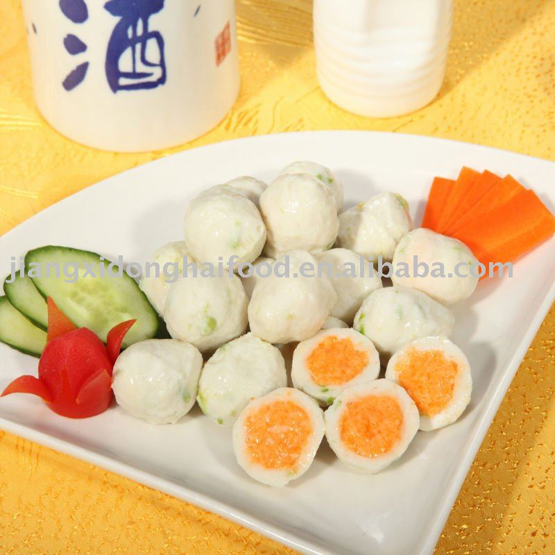 Japanese flavour whole fish ball fish roe products china for Fish ball with roe