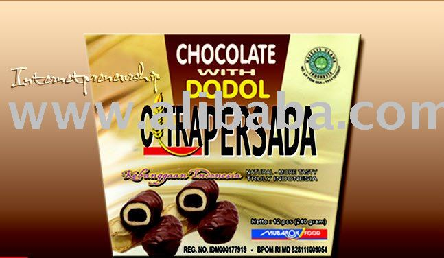 Dodol Citrapersada (Soft Cake) with Flavors: Chocolate (Indonesian Traditional Soft Cake)