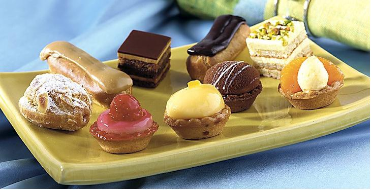 french petits fours pastries