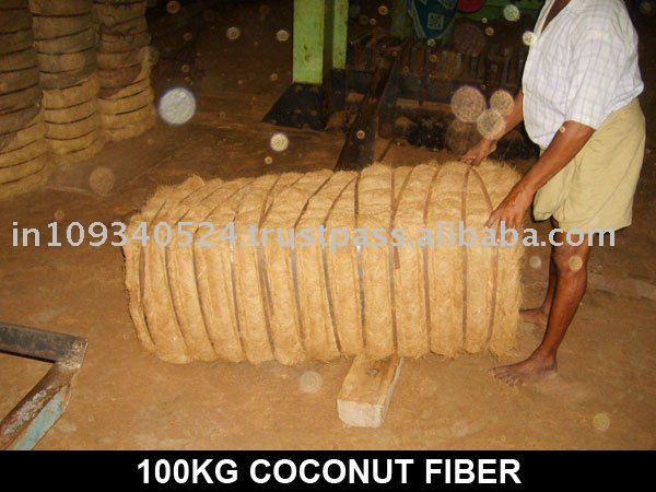 white & brown coconut fibre
