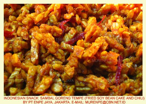 Sambal Goreng Tempe (Fried Soy Bean Cake And Chili)