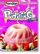 Pondan Strawberry Pudding