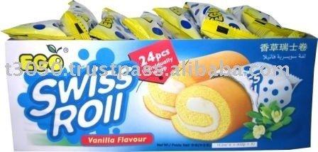 Ego Swiss Roll 24's - Vanillia cakes