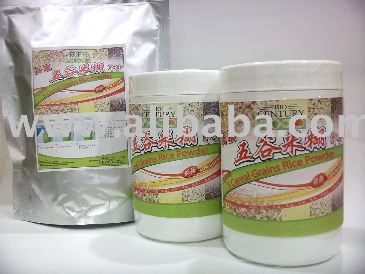 Organic 5 Cereal Grains Rice Powder cereal grain