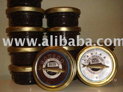Russian Caspian Black Sturgeon Caviar