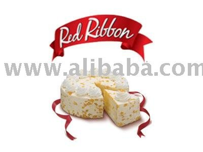Red Ribbon Mango Cake