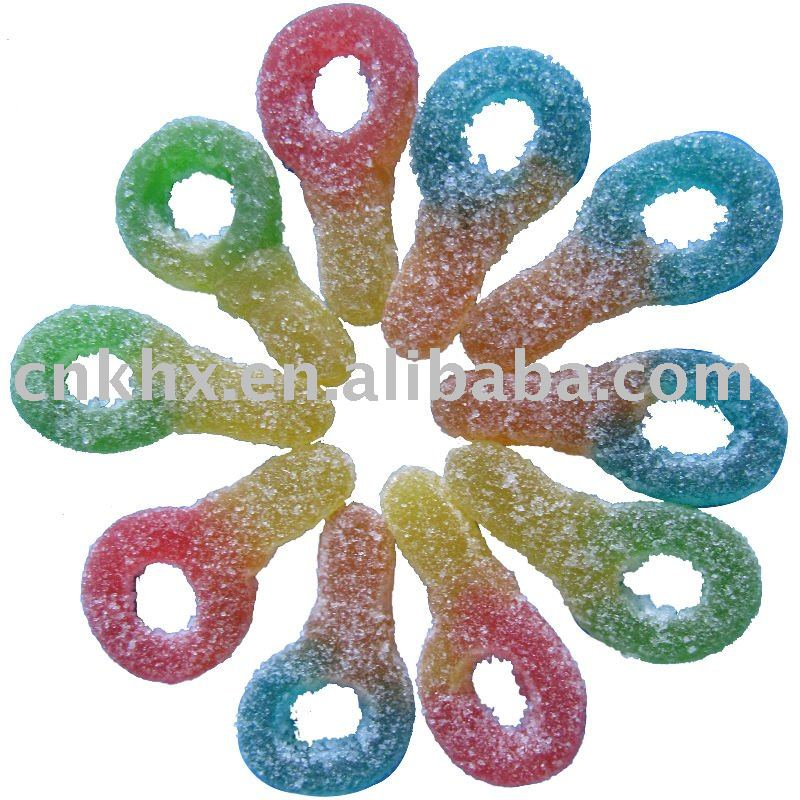 key shape gummy candy