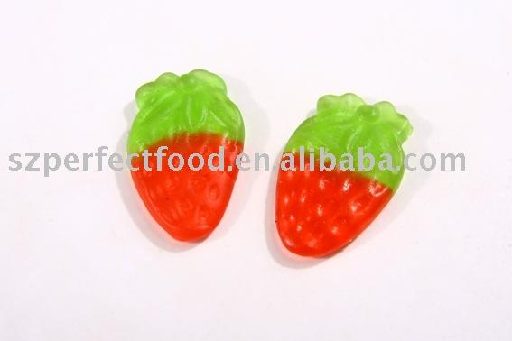 Strawberry shape Gummy Candy