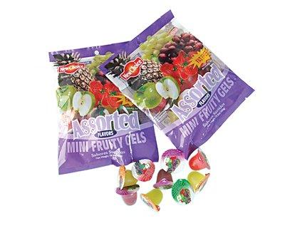 Mini fruity jelly in bag