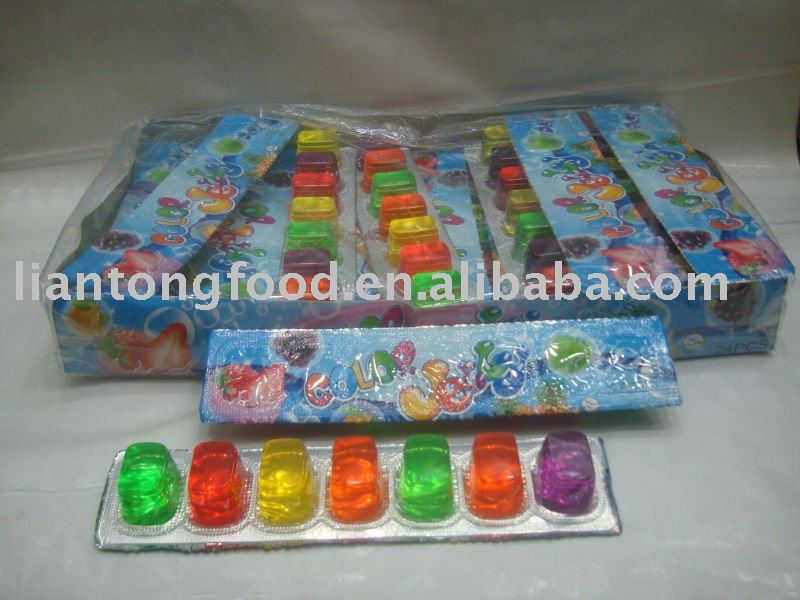 colorful fruit jelly pudding