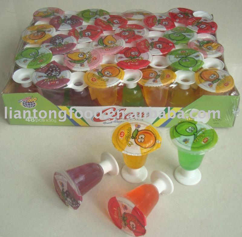 fruit cupped jelly pudding