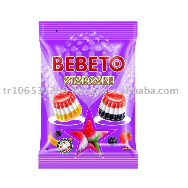 BEBETO 40g Star Cake Jelly Gum