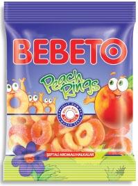 BEBETO 100g Peach Rings Jelly Gum