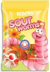 BEBETO 20g Sour Worms Jelly Gum