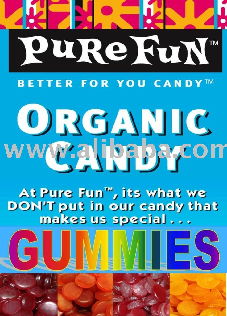 PURE FUN GUMMY CANDY CERTIFIED ORGANIC KOSHER VEGAN GLUTEN-FREE NON-GMO CANDY