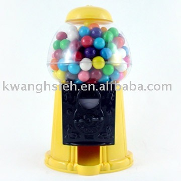 "9"" Plastic Gumball Machines with Coin Bank Function"