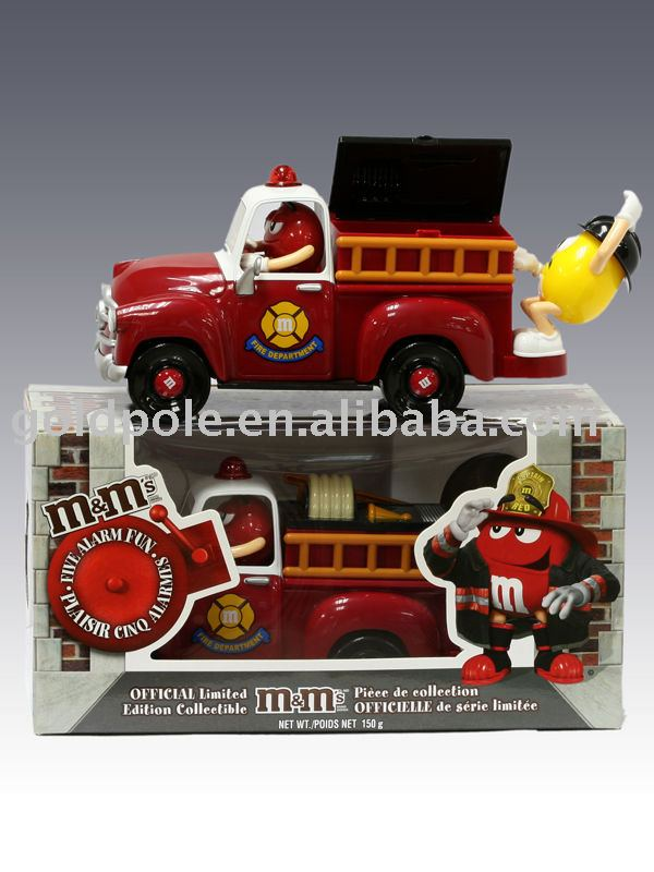 Candy toys M&M's Choc Fire Truck Dispenser
