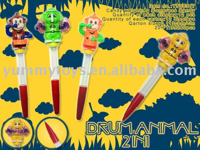 Sound Elephant/Monkey/Animal Pen Sweet Toy/Confectionary