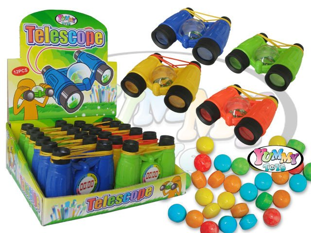 Funny telescope sweet candy toy