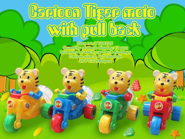 Pull Back Animal Motorcycle Sweet Candy Toys