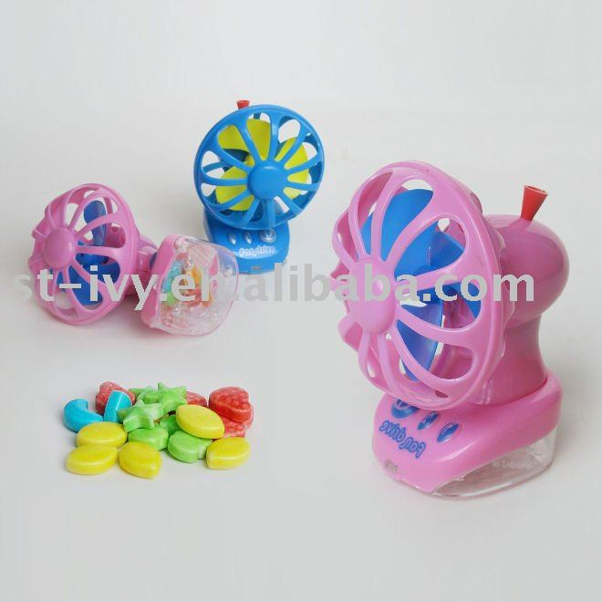 mini fan toy candy