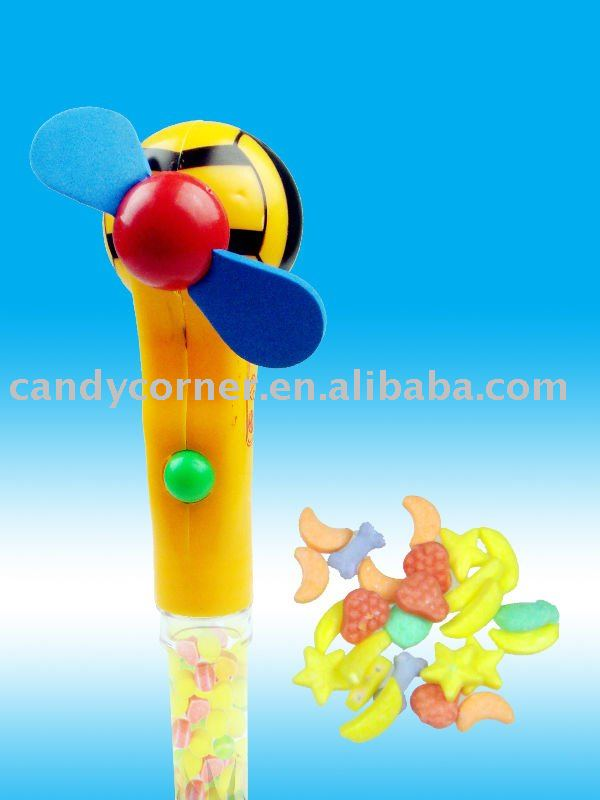 plastic toy candy-fan
