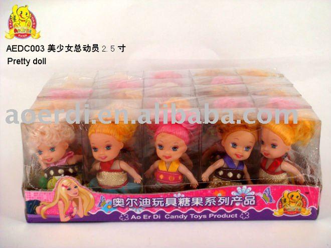 pretty doll toy candy  (8cm)AEDC003
