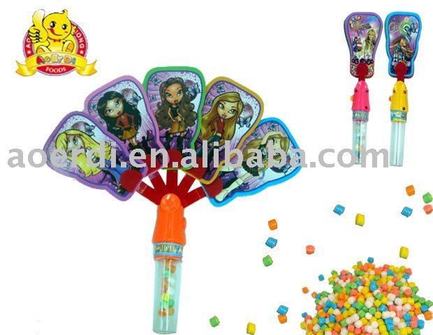 funny fan candy in toy