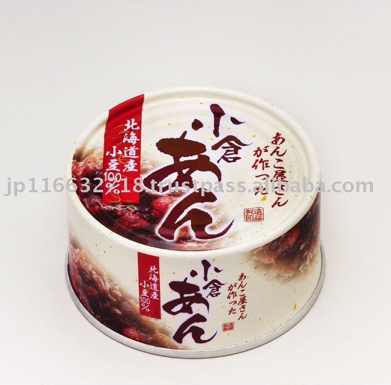 Sweet adzuki bean jam (containing whole and filtered beans)