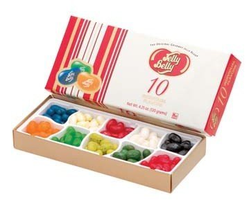 Gum:'Jelly Belly' 10 flavor box
