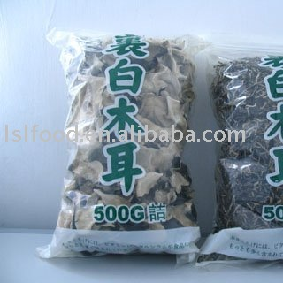 white-backed  black fungus