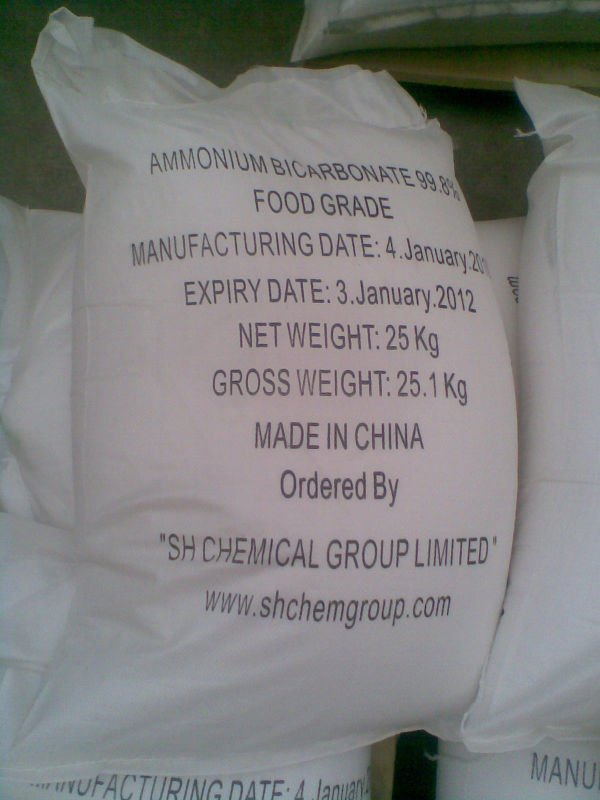 Edible ammonium bicarbonate food grade99 6 products china - Bicarbonate d ammonium cuisine ...