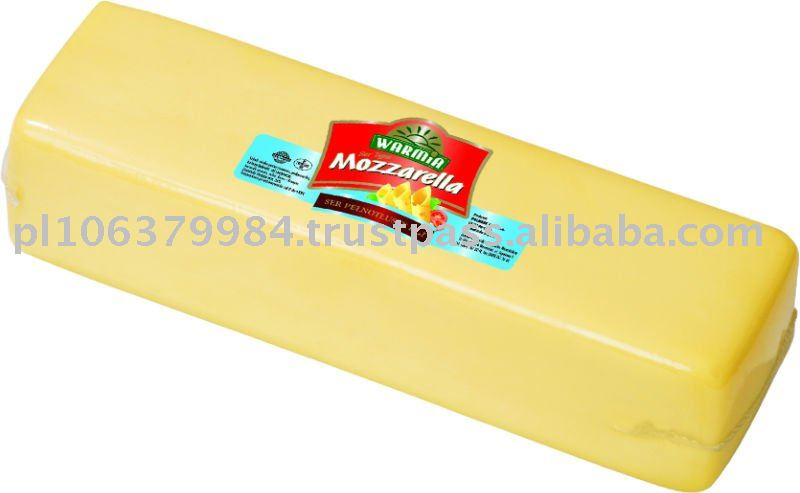 Mozzarella cheese block